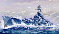 Trumpeter 1/700 USS Alabama BB-60, NT, LIST PRICE $34.95