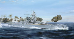 Trumpeter 1/700 German Admiral Graf Spee Pocket BB 1939, LIST PRICE $33.95