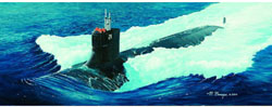 Trumpeter 1/144 YSS SSN-21Sea Wolf Sub, LIST PRICE $34.95