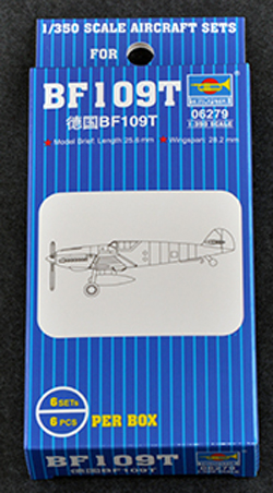 Trumpeter 1:350 BF109T FGHTR SET , LIST PRICE $9.95