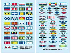 Trumpeter 1/200 WWII Signal Flag Decals, LIST PRICE $7.95