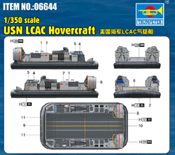 Trumpeter 1/350 USN LCAC Hovercraft, DUE 9/30/2020, LIST PRICE $9.99