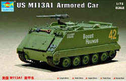 Trumpeter 1/72 US M113A1 Armored Car, LIST PRICE $15.95
