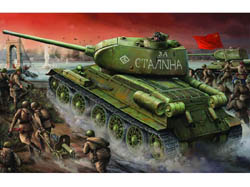 Trumpeter T34/85 RUSSIAN TANK EARLY 1:16, LIST PRICE $177.95