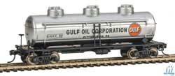 Walthers Mainline HO 36' 3 Dome Tank Car Gulf Oil SHPX #62, LIST PRICE $27.98