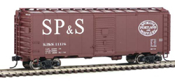 Walthers Mainline HO 40' AAR 1944 Boxcar SP&S #11124, LIST PRICE $27.98
