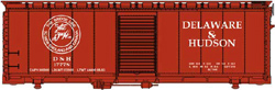Walthers Mainline HO 40' AAR Box D&H 17797, LIST PRICE $27.98