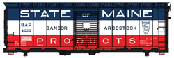 Walthers Mainline HO 40' AAR 1948 Box B&A 4035 State of Maine Slogan, LIST PRICE $31.98