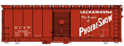 Walthers Mainline HO 40' 37 AAR Bc DL&W 51460, LIST PRICE $27.98