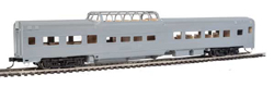 Walthers Mainline HO 85' Budd Dome Coach RTR Painted Unlettered silver, DUE 9/28/2018, LIST PRICE $39.98