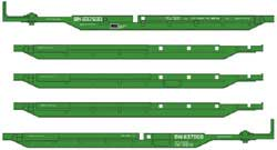 Walthers Mainline HO 263' Five Unit 48' Spine Car BN #637500, LIST PRICE $119.98