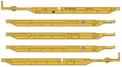 Walthers Mainline HO 263' Five Unit 48' Spine Car UP #252502, LIST PRICE $119.98
