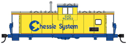 Walthers Mainline HO Int Extended WV Caboose Chessie C&O 903193, DUE 6/28/2019, LIST PRICE $34.98