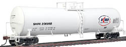 Proto by Walthers HO 54' UTLX 23K Gal Funnel Flow Tank Kerr McGee/S, LIST PRICE $37.98