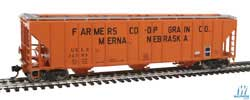 Proto by Walthers HO 55' Evans 4780 Covered Hopper Farmers Co op USLX #26703, LIST PRICE $37.98
