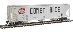 Proto by Walthers HO 55' Evans 4780 CuFt 3-Bay Cvrd Hpr Comet Rice 20920, LIST PRICE $37.98