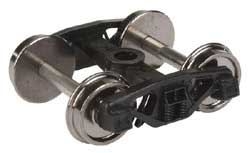 "Proto by Walthers HO Frght Trks 1 Pr 50T Spring Plankless Rigid Trk 33"" Whls, LIST PRICE $9.98"
