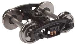 "Proto by Walthers HO Frght Trks 1 Pr Andrews 33"" Whls Sprung, LIST PRICE $11.98"