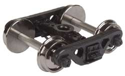 "Proto by Walthers HO Frght Trks 1 Pr Caboose 33"" Whls Roller Bearing, LIST PRICE $9.98"