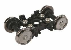 "Proto by Walthers HO Pass Trks w/36"" Whls 1Pr Amflt Inside Bearing Blk, LIST PRICE $14.98"