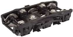 """Proto by Walthers HO Pass Trks w/36"""" Whls 1Pr PRR 3D-P1 6-Whl Diner Version, LIST PRICE $14.98"""