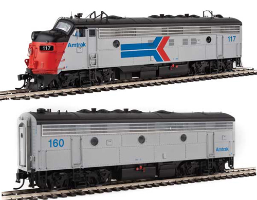Proto by Walthers HO EMD FP7 2 pc Set Amtrak ex-SP #117, 160 Snd, DUE 12/30/2020, LIST PRICE $549.98