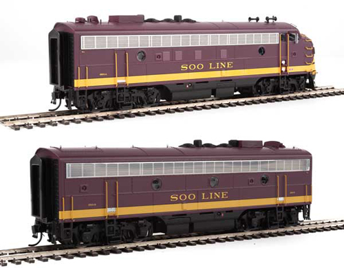 Proto by Walthers HO EMD FP7 2 pc Set Soo Line marn #2501A, 2501C Snd, DUE 12/30/2020, LIST PRICE $549.98