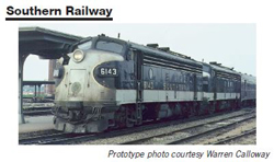 Proto by Walthers HO EMD FP7 2 pc Set Southern RW #6133, 6146 Snd, DUE 12/30/2020, LIST PRICE $549.98