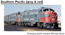 Proto by Walthers HO EMD FP7 2 pc Set SP gray & red #6452, 8303 Snd, DUE 12/30/2020, LIST PRICE $549.98