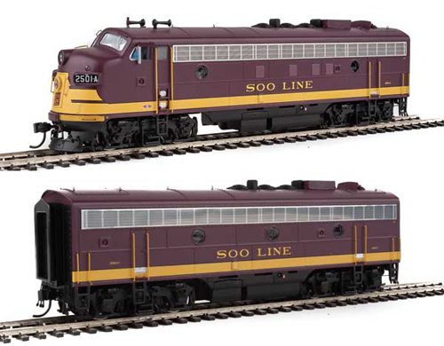 Proto by Walthers HO EMD FP7 2 pc Set Soo Line maroon #2501A, 2501C , DUE 12/30/2020, LIST PRICE $369.98