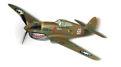Squadron Models P-40B/C Hawk-81 prepaintd 1:72, LIST PRICE $19.99