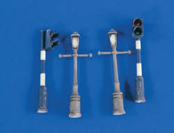 Verlinden 1:48 Lamposts & Traffic Lights, LIST PRICE $12.55