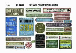 Verlinden FRENCH COMMERCIAL SIGNS 1:35 , LIST PRICE $5.36
