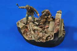 Verlinden BURN! WW-II VIGNETTE 1:35, LIST PRICE $31.95