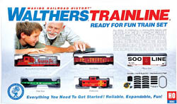 Walthers Train Line HO RtR Train Set ATSF, LIST PRICE $190