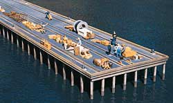 Walthers Cornerstone HO PIER ADD-ON, LIST PRICE $21.98