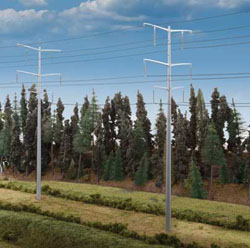 Walthers Cornerstone HO Modern High Voltage Transmission Towers Kit Poles, LIST PRICE $24.98