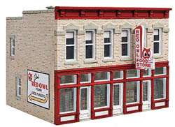 Walthers Cornerstone HO Main Street USA Red Owl Food Store, LIST PRICE $24.98
