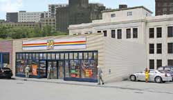 Walthers Cornerstone HO 24-7 Quick Mart Building Kit, LIST PRICE $29.98