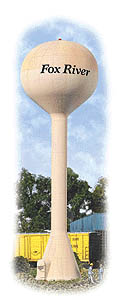 Walthers Cornerstone HO MODERN WATER TOWER, LIST PRICE $24.98