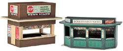 Walthers Cornerstone HO Newstands - Kit, LIST PRICE $19.98