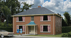 Walthers Cornerstone HO 4Unit Apartment Building, LIST PRICE $34.98