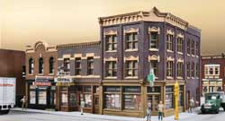 Walthers Cornerstone HO Merchants Row V Building Kit, LIST PRICE $39.98