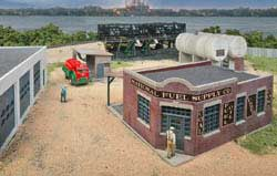 Walthers Cornerstone HO National Fuel Supply Co Bldg Kit, LIST PRICE $59.98