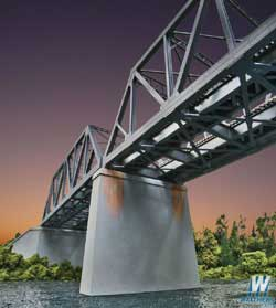 Walthers Cornerstone HO Double Track RR Bridge Concrete Piers Kit 2pk, LIST PRICE $24.98