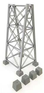 Walthers Cornerstone HO Steel RR Bridge Tower Kit, LIST PRICE $24.98