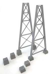Walthers Cornerstone HO Steel RR Bridge Tower Bent Kit, LIST PRICE $19.98