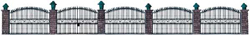 """Walthers Cornerstone HO Wrought Iron Fence Kit 25-1/2"""" 65cm, DUE 1/28/2019, LIST PRICE $11.98"""