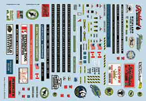 Walthers Decals N Modular Decal Set, LIST PRICE $15.98