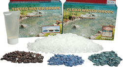 Walthers Scenemaster Clear water drops, LIST PRICE $21.98